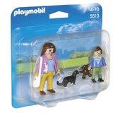5513 Playmobil Mama met scholier_