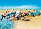 6864 Playmobil Pick-up met speedboot met onderwatermotor_