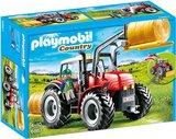 6867 Playmobil Grote rode tractor met werktuigen_