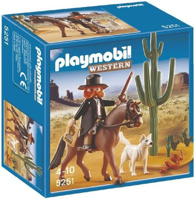 5251 PLAYMOBIL Western Sheriff te Paard