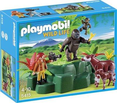 5415 Playmobil Gorilla's en Okapi's