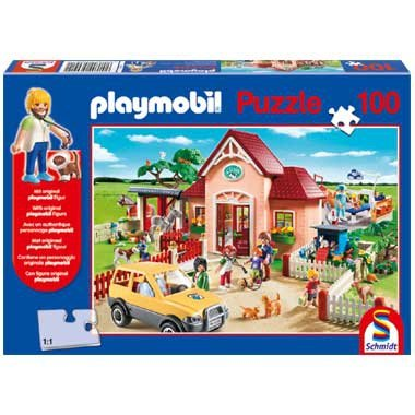 56091 PLAYMOBIL Puzzel Dierenartsenpraktijk 100 Stukjes