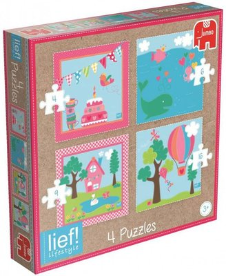 Lief! Puzzel Girls - 4in1