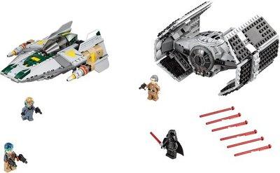 75150 LEGO® Star Wars™ Darth Vader's TIE Advanced vs. A-Win Starfighter