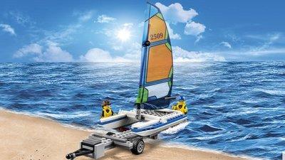 60149 LEGO City Pickup 4x4 met catamaran