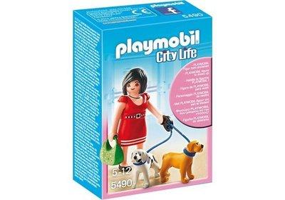 5490 PLAYMOBIL City Life Vrouw met puppy's