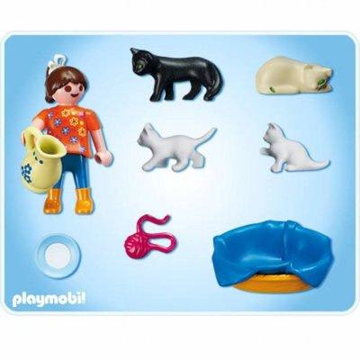 5126 Playmobil Meisje Met Poezenfamilie