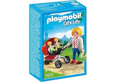 5573 PLAYMOBIL City Life Tweeling kinderwagen