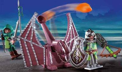4840 Playmobil Groene Drakenridders met Katapult