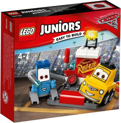 10732 LEGO® Juniors Cars 3 Guido en Luigi's Pitstop