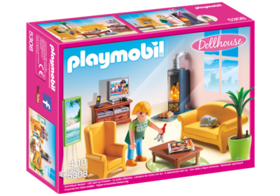 5308 Playmobil Woonkamer met houtkachel