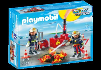 5397 PLAYMOBIL City Action Brandweermannen met blusmateriaal