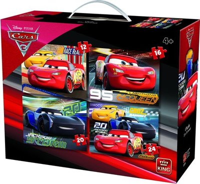62291 King Puzzel 4in1 Disney Cars 3