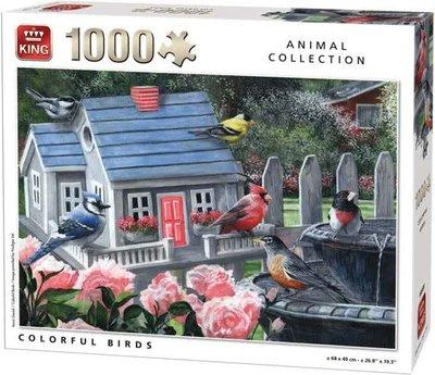85505C King Puzzel Colorful Birds 1000 stukjes