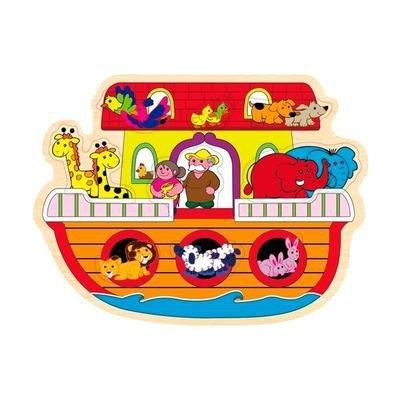 Playing Kids Ark Van Noach Houten Puzzel