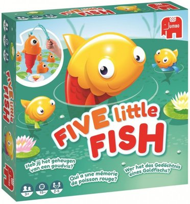 19707 Jumbo Five Little Fish Kinderspel Visjes vangen