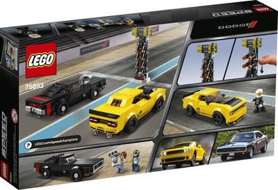 75893 LEGO Speed Champions 2018 Dodge Challenger SRT Demon en 1970 Dodge Charger R/T
