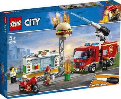 60214 LEGO City Brand bij het Hamburgerrestaurant