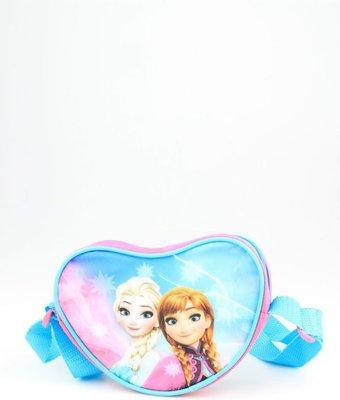 540609  Disney Frozen handtas hartje meisjes roze/blauw 14x13x4 cm