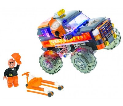 18202 Laser Pegs - Monster Truck Wrecker - Oranje