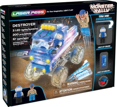 18203 Laser Pegs - Monster Truck Destroyer - Blauw