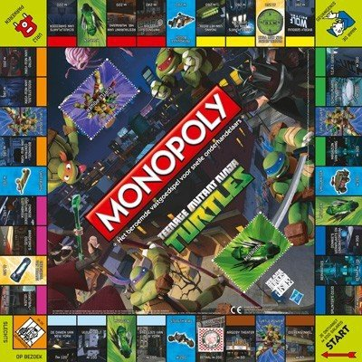 42938 Hasbro Monopoly Teenage Mutant Ninja Turtles - Bordspel