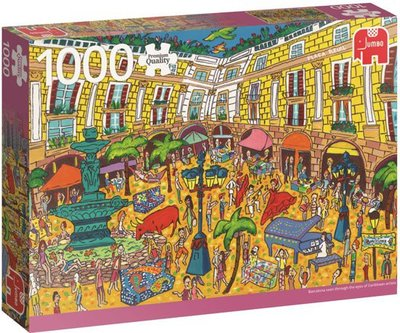 18561 Jumbo Puzzel Plaça Reial Barcelona Premium Quality 1000 stukjes