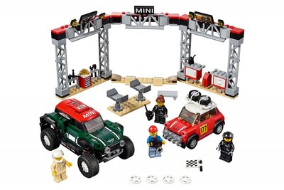 75894 LEGO Speed Champions 1967 Mini Cooper S Rally en 2018 MINI John Cooper Works Buggy