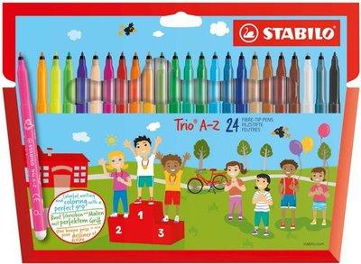 55681 STABILO Trio A-Z Viltstiften 24 stuks