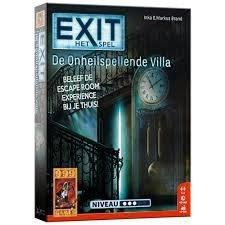 999Games EXIT De Onheilspellende Villa Breinbreker Escape Room Bordspel