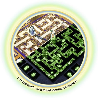 266944 Ravensburger Betoverde Doolhof Glow in the dark Bordspel