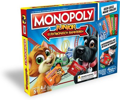 1842 Monopoly Junior Elektronisch Bankieren - Bordspel