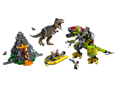 75938 LEGO Jurassic World T. Rex vs. Dinomecha Gevecht
