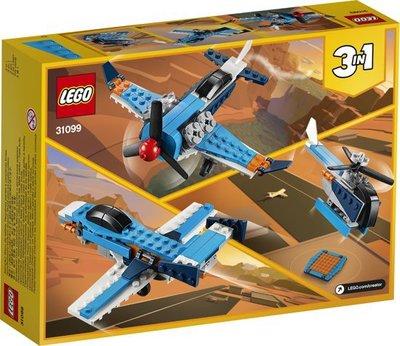 31099 LEGO Creator Propellervliegtuig
