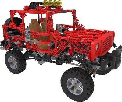 15222 K'NEX Gemotoriseerde Rode Jeep - Bouwset