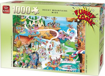 05189 King Puzzel Funny Comic Rocking Mountains Wide 1000 Stukjes