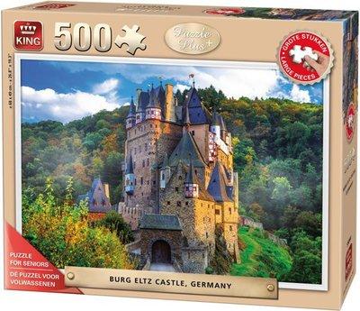 55844 King Seniorenpuzzel The Castle Burg Eltz, Germany 500 (grote) Stukjes