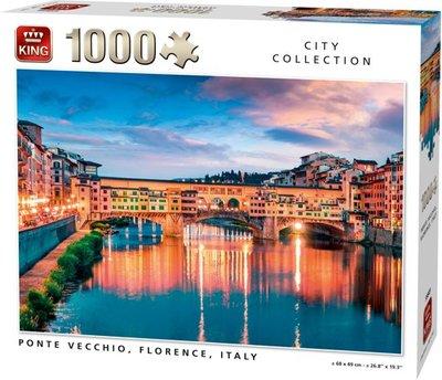 55849 King Puzzel Ponte Vecchio, Florence, Italië 1000 Stukjes