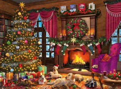 147076 Ravensburger puzzel Witte Kerst 500 stukjes