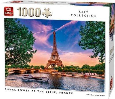 55851 King Legpuzzel Eiffeltoren Bij De Seine 1000 Stukjes
