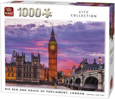 05658 King Big Ben and House of Parliament, London - 1000 Stuks
