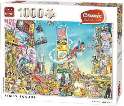 55905 King Puzzel Comic Cartoon Time Square NY 1000 Stukjes