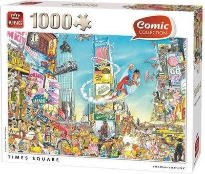 55905 King Puzzel Comic Cartoon Time Square NY 1000 Stukjes