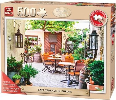 05532 King Seniorenpuzzel Terrace Europe 500 (grote) stukjes