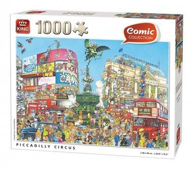 55889 King Puzzel Comic Cartoon Piccadilly Circus 1000 Stukjes