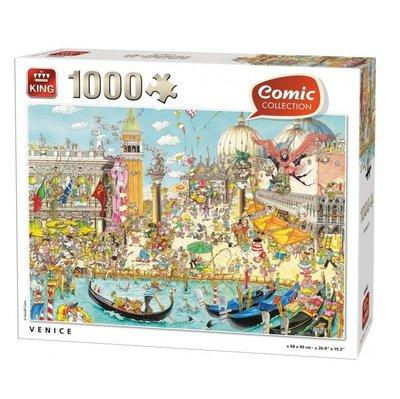 55842 King Puzzel Comic Cartoon Venice 1000 Stukjes