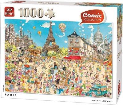 55843 King Puzzel Comic Puzzel Paris 1000 Stukjes