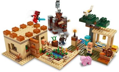 21160 LEGO Minecraft De Illager Overval
