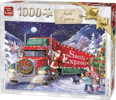 05618 King Puzzel Santa Express 1000 stukjes