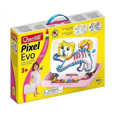0917 Quercetti Pixel Evo Insteekmozaiek Roze Meisje 300 delig in koffer